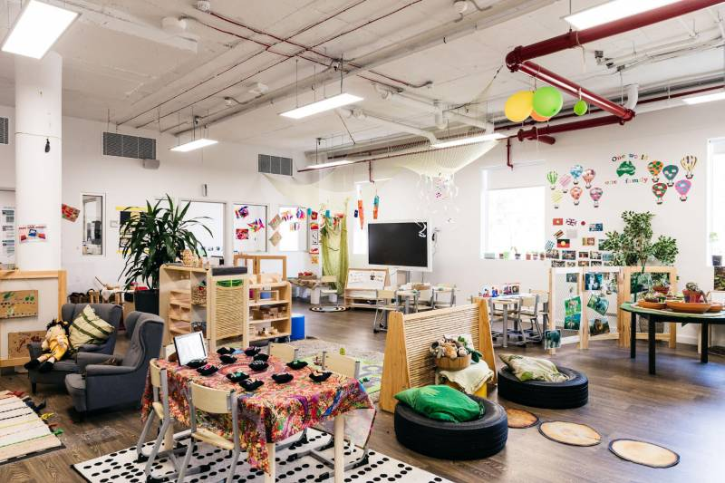 Petit Richmond sets a fine example of a playful environment where children learn through play.