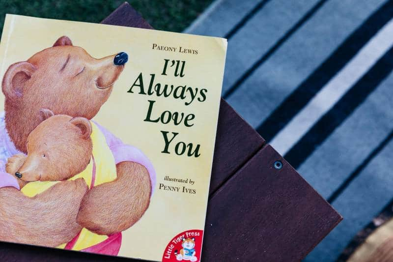 Children's picture book, I'll Always Love You by Peony Lewis and Penny Ives awaits inquisitive hands at Petit ELJ