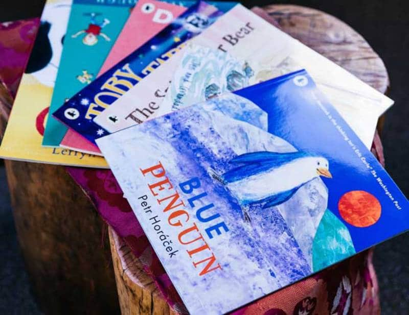 Kids books like Blue Penguin by Petr Horacek have thoughtful themes