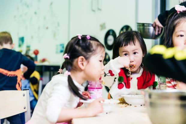 Children at Petit Early Learning Journey centres enjoy preschool and toddler lunch ideas based on the five food groups